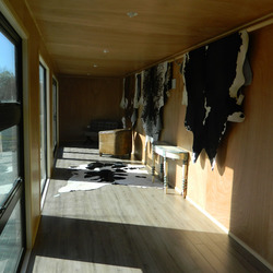 Display shop interior by Taylor Made Container Homes