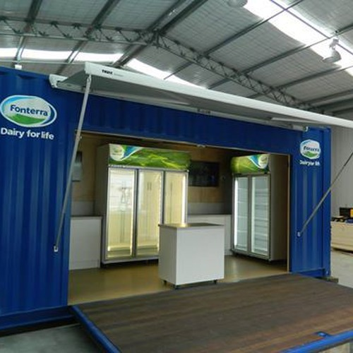 Fonterra stand made by Taylor Made Container Homes