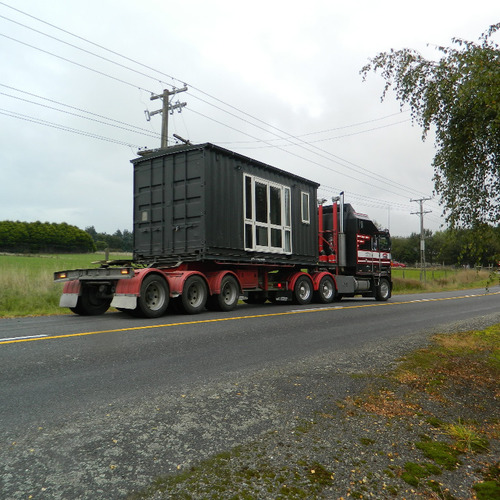 Shipping container building on the move to Blenheim