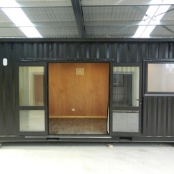 Exterior workers accommodation by Taylor Made Container Homes